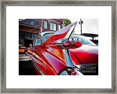 Red Hot Cadillac Framed Print by Sonja Quintero