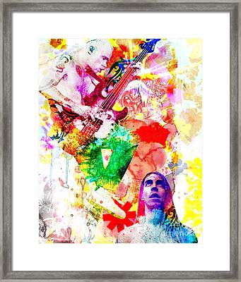 Red Hot Chili Peppers  Framed Print by Ryan Rock Artist