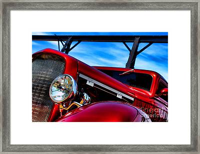 Red Hot Rod Framed Print by Olivier Le Queinec