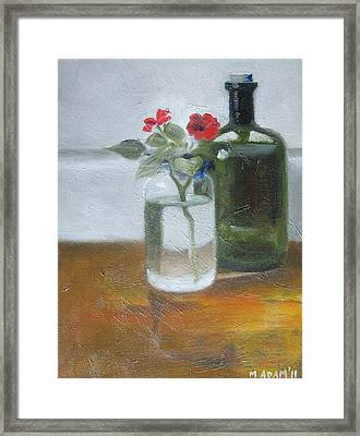 Red Impatiens Framed Print by Mary Adam
