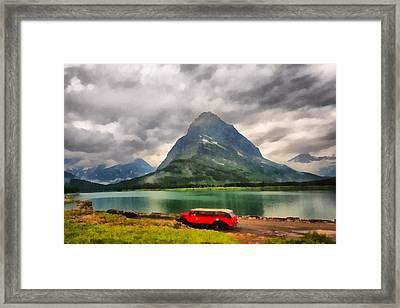 Red Jammer Framed Print by Mark Kiver