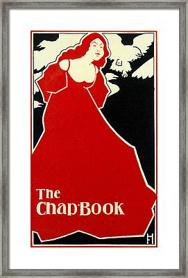 Red Lady The Chap Book1895 Framed Print by Frank Hazenplug