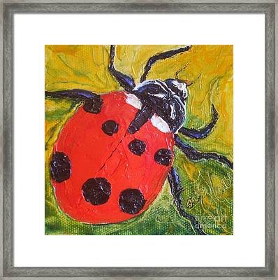 Red Ladybug Framed Print by Paris Wyatt Llanso