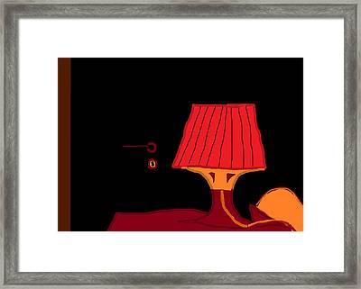 Red Lamp 10.5 Framed Print by Anita Dale Livaditis