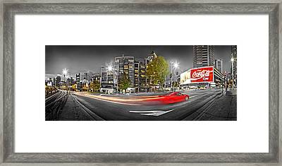 Red Lights Sydney Nights Framed Print by Az Jackson