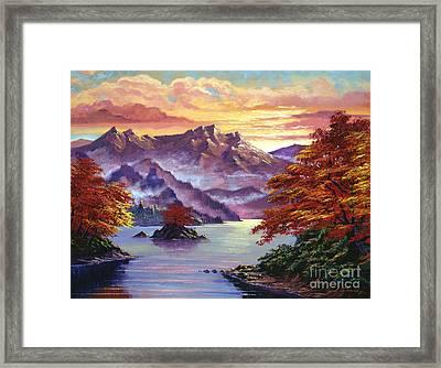 Red Maple Island Framed Print by David Lloyd Glover