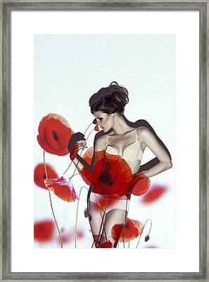 Red Framed Print by Marinastudio
