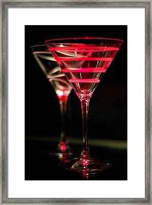 Red Martini Framed Print by Spencer McDonald