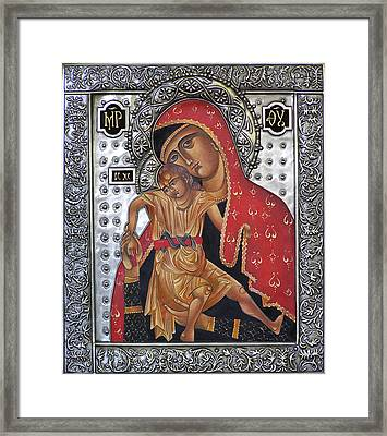 Red Mary Framed Print by Mary jane Miller