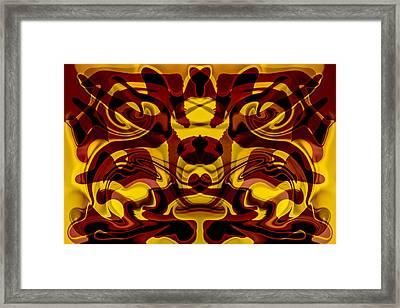 Red Mask Framed Print by Omaste Witkowski