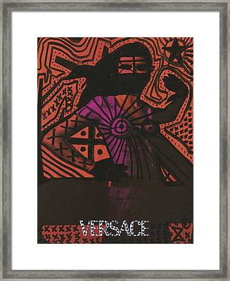 Red Medusa Pop Graffiti Model Framed Print by Edward X