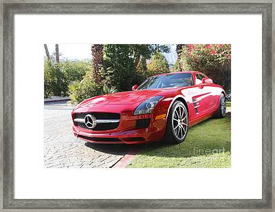 Red Mercedes Benz Framed Print by Nina Prommer