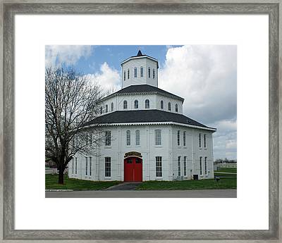 Red Mile Barn Framed Print by Roger Potts