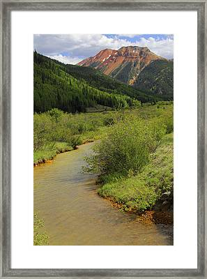 Red Mountain Creek - Colorado  Framed Print by Mike McGlothlen