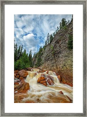Red Mountain Creek Framed Print by Darren  White