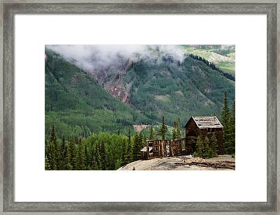 Red Mountain Remnants Framed Print by Lana Trussell