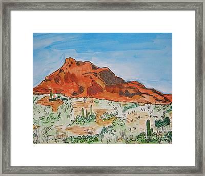 Red Mt Framed Print by Marcia Weller-Wenbert