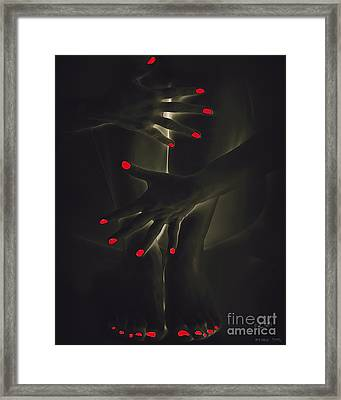 Red Nails Framed Print by Pedro L Gili