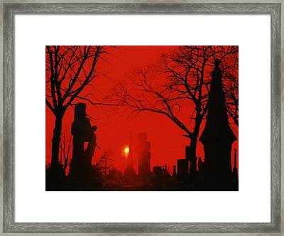 Red Night Framed Print by Gothicolors Donna