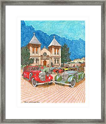 1929 Rolls Royce Luxury Cars Red Or Green What A Question What A Choice Framed Print by Jack Pumphrey