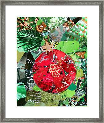 Red Ornament Framed Print by Suzy Pal Powell