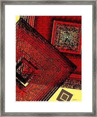 Red Over Yellow Framed Print by Mario Perez