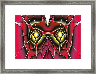 Red Owl Framed Print by Anastasiya Malakhova
