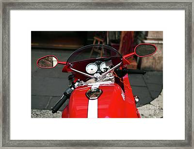 Red Paint Framed Print by John Rizzuto