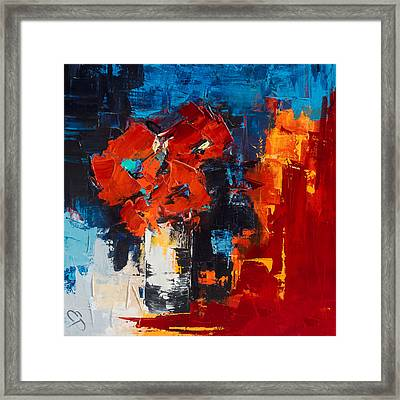Red Passion Framed Print by Elise Palmigiani