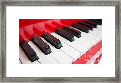 Red Piano Framed Print by Yew Kwang
