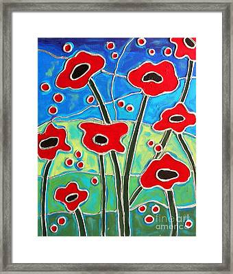 Red Poppies 2 Framed Print by Cynthia Snyder