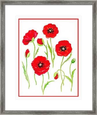 Red Poppies Framed Print by Irina Sztukowski