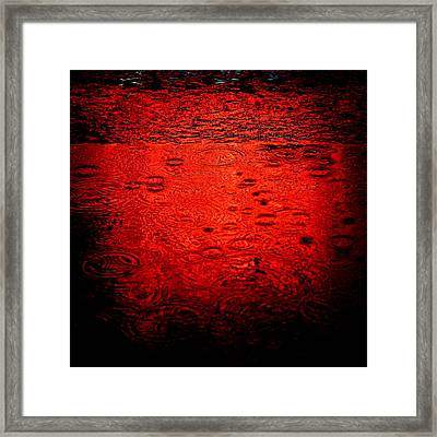 Red Rain Framed Print by Dave Bowman