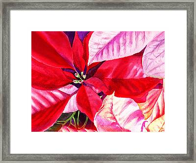 Red Red Christmas Framed Print by Irina Sztukowski