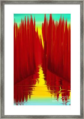 Red Reed River Framed Print by Anita Lewis