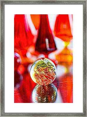 Red Reflections Framed Print by Jon Woodhams
