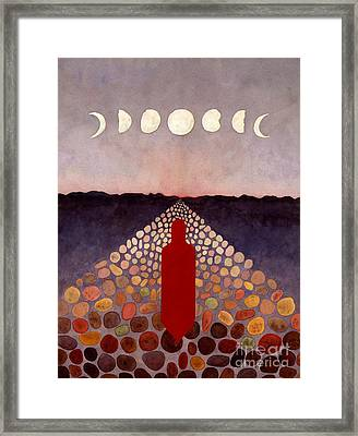 Red Road Red Spirit Figure Framed Print by Pamela Yates