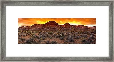 Red Rock Canyon Las Vegas Nevada Fenced Wonder Framed Print by Silvio Ligutti