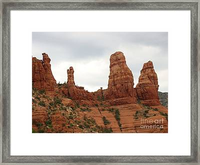 Red Rock Country Sedona Az Framed Print by Beverly Guilliams