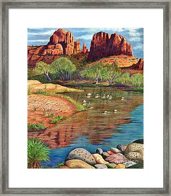 Red Rock Crossing-sedona Framed Print by Marilyn Smith