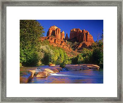 Red Rock Crossing Framed Print by Timm Chapman