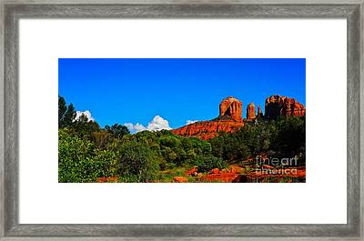 Red Rock Crossing Framed Print by Tracey McQuain
