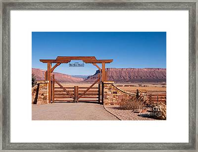 Red Rock Ranch Framed Print by Bob and Nancy Kendrick