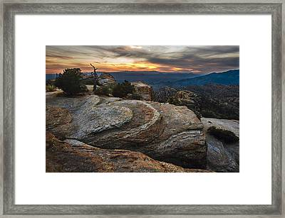 Red Rock Sunset On Mount Lemmon Arizona Framed Print by Dave Dilli