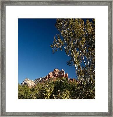 Red Rocks Oak Creek Canyon Sedona 3 Framed Print by Douglas Barnett