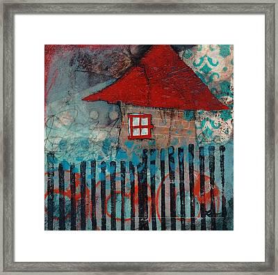 Red Roof House Framed Print by Laura  Lein-Svencner