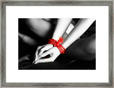 Red Rope Framed Print by Chris Black