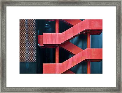 Red Route Framed Print by Linda Wride