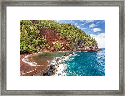 Red Sand Beach Maui Framed Print by Pierre Leclerc Photography