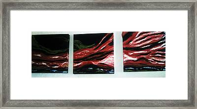 Red Sequence Framed Print by Vickie Meza